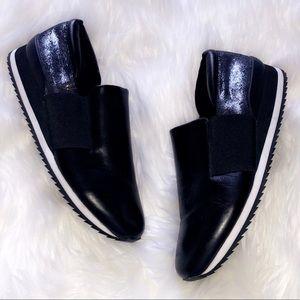 BELLA VITA Leather Metallic Sneakers